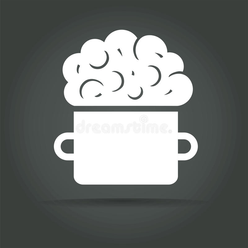 抽象传染媒介聪明的食物略写法概念 皇族释放例证
