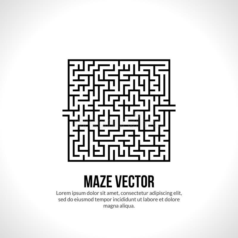 抽象传染媒介迷宫商标 商标象概念 向量例证