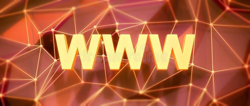 抽象低多背景 词概念 文本万维网 库存例证