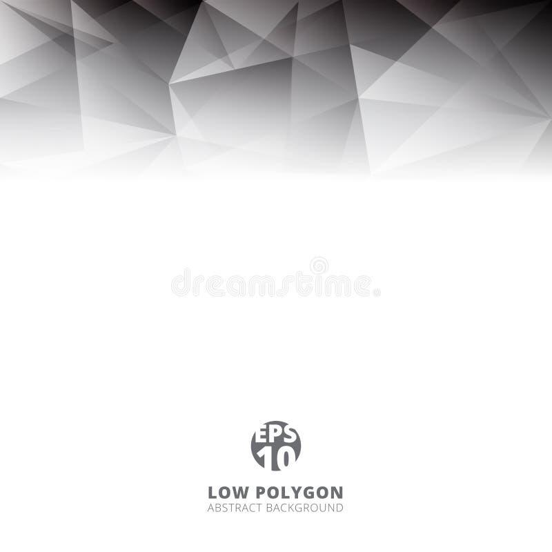 抽象低多角形浅灰色的颜色多角形形状背景 向量例证