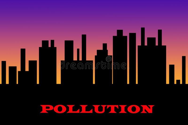 抽象例证污染 库存例证