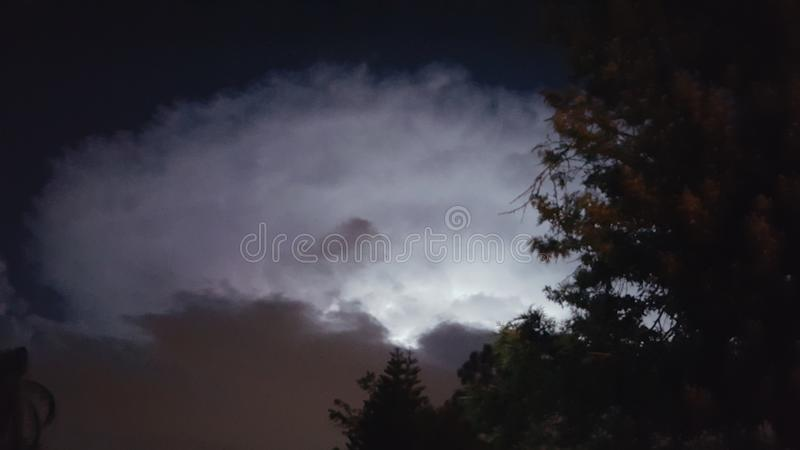 抽象例证闪电夜空 库存照片