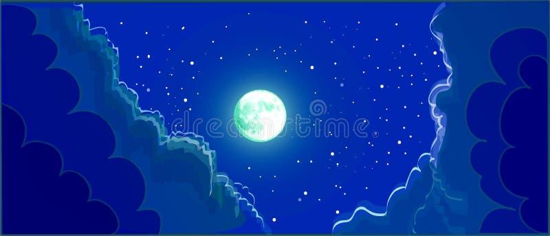 抽象例证闪电夜空 向量例证