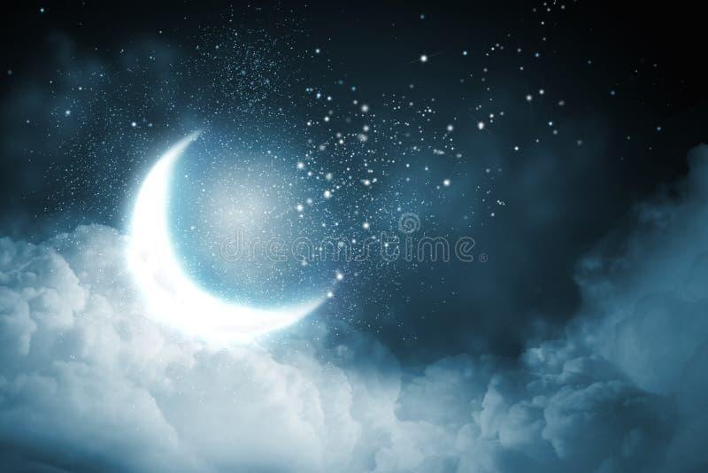 抽象例证闪电夜空 免版税库存照片