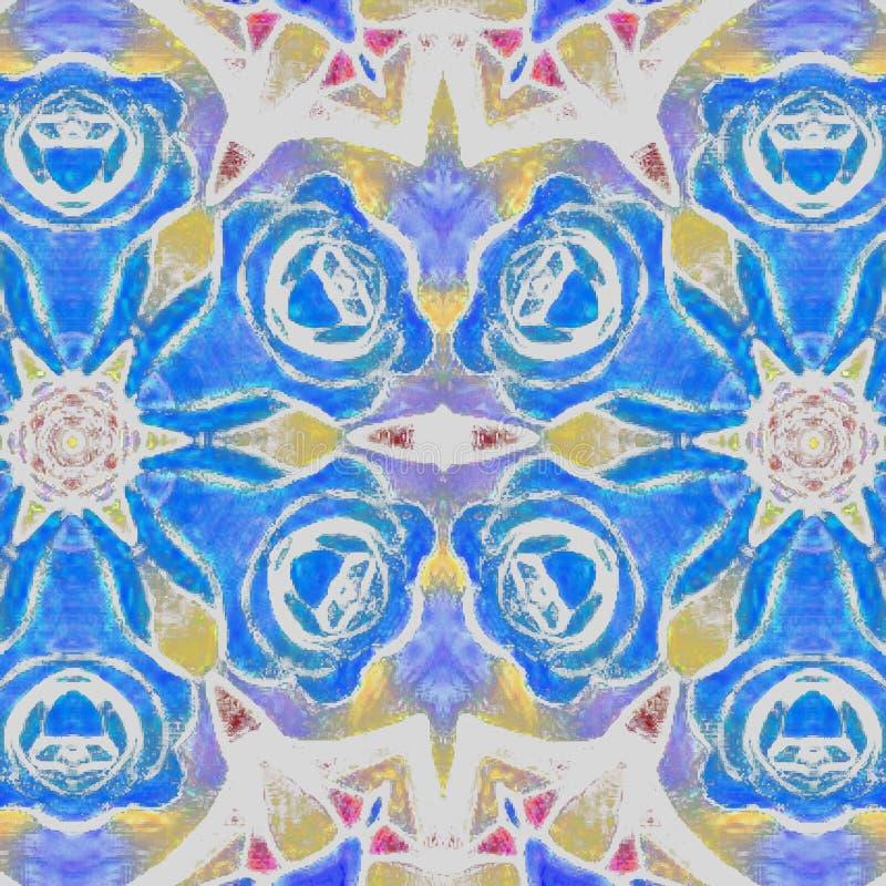 抽象例证 蓝色玫瑰 向量例证
