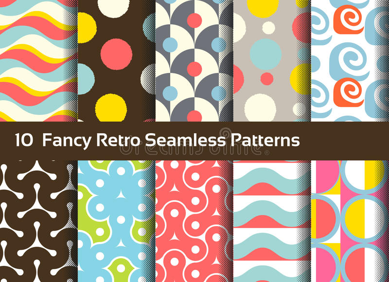 抽象例证仿造无缝的向量 几何和装饰主题 皇族释放例证
