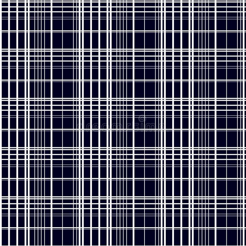 抽象例证仿造无缝的向量 在黑背景的白色条纹 皇族释放例证