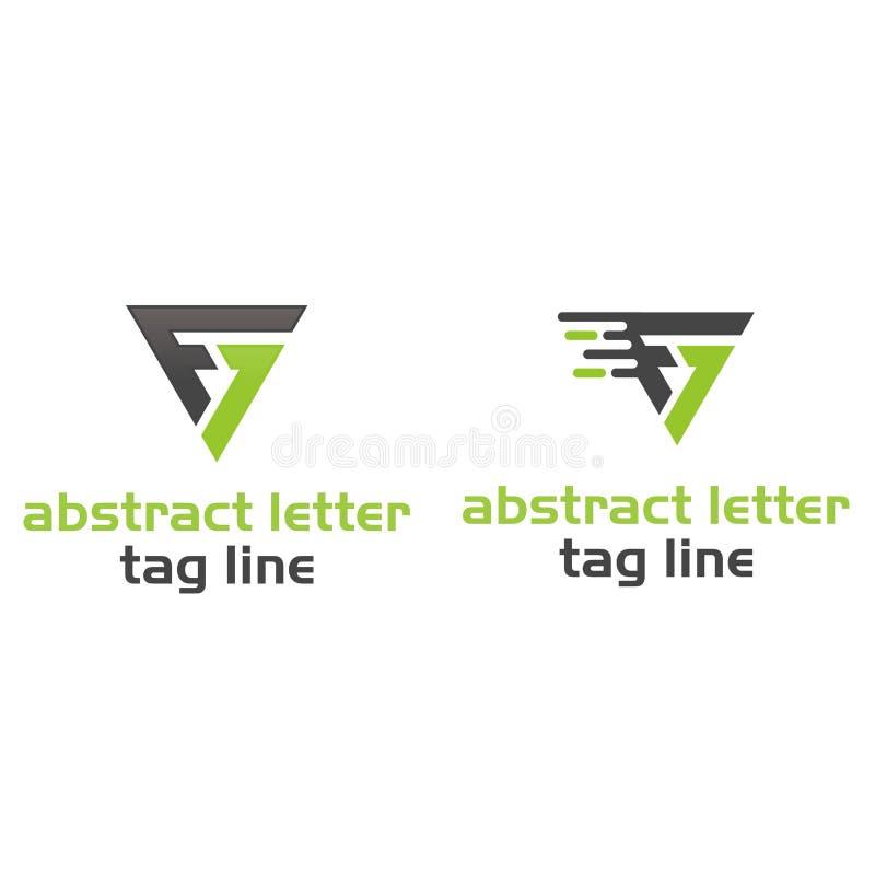 抽象信件商标 库存例证