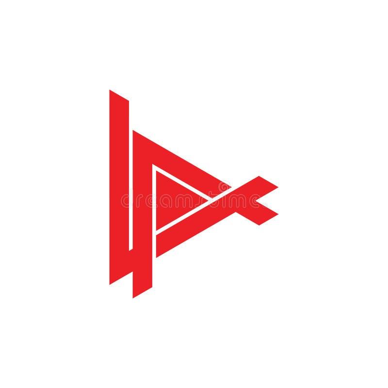 抽象信件av几何三角箭头商标传染媒介 向量例证