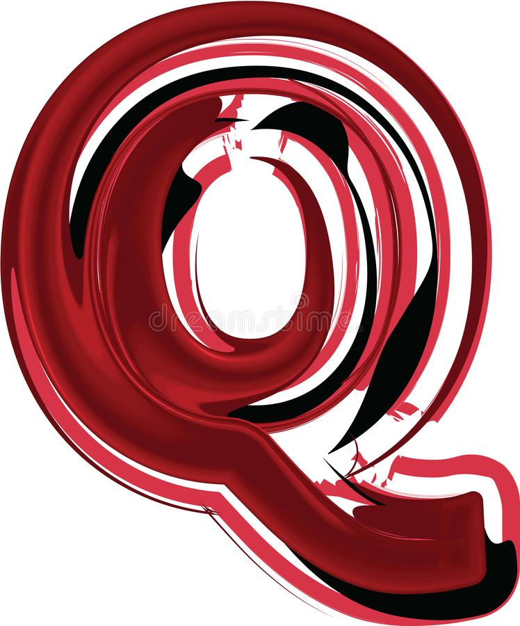 抽象信件Q 皇族释放例证
