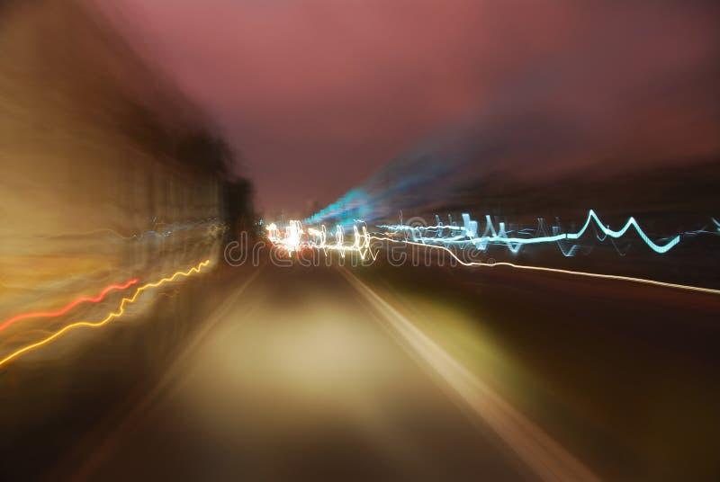 抽象光业务量 免版税图库摄影