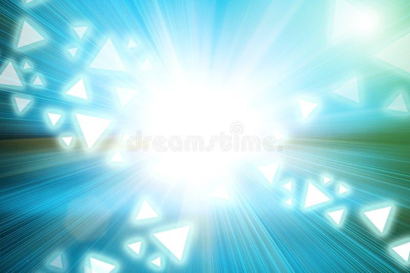 抽象光和三角在加速度速度行动塑造 向量例证
