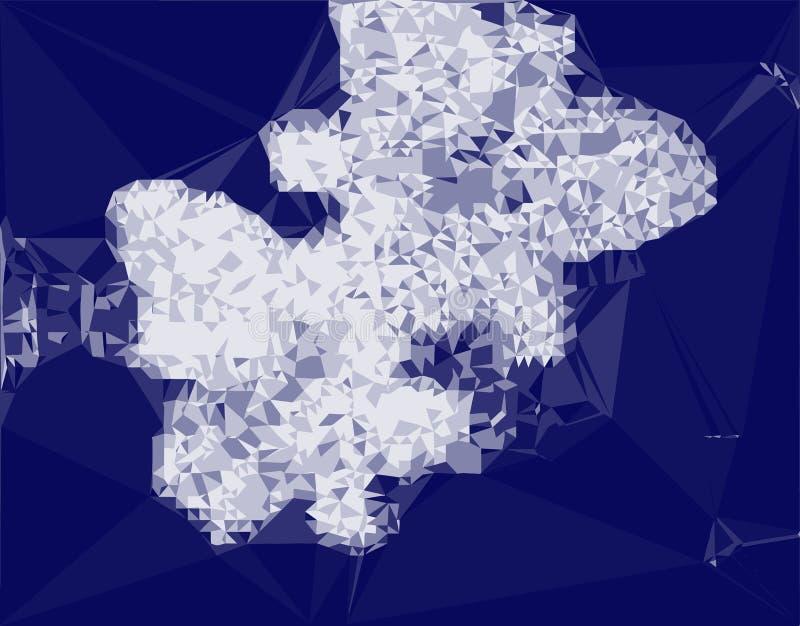 抽象光散射水晶 皇族释放例证