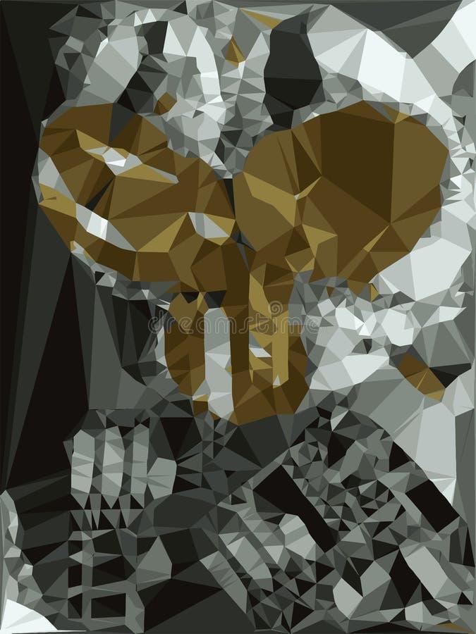 抽象光散射水晶 库存例证