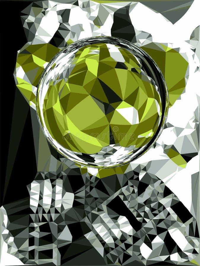抽象光散射水晶 向量例证
