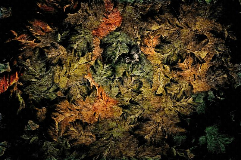 抽象光栅,装饰葡萄酒难看的东西背景,与宽冲程花卉纹理,挂毯的,墙纸油漆设计, 免版税库存图片
