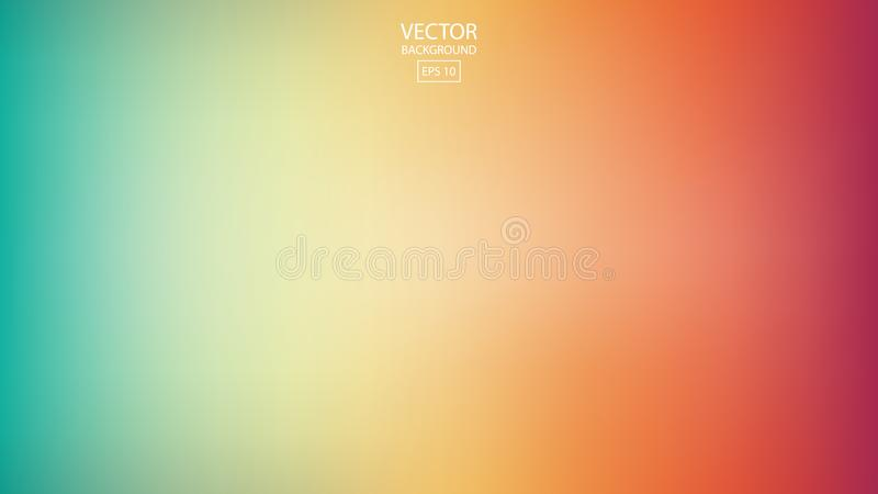 抽象光滑的彩虹背景,五颜六色的被弄脏的设计, vec 皇族释放例证