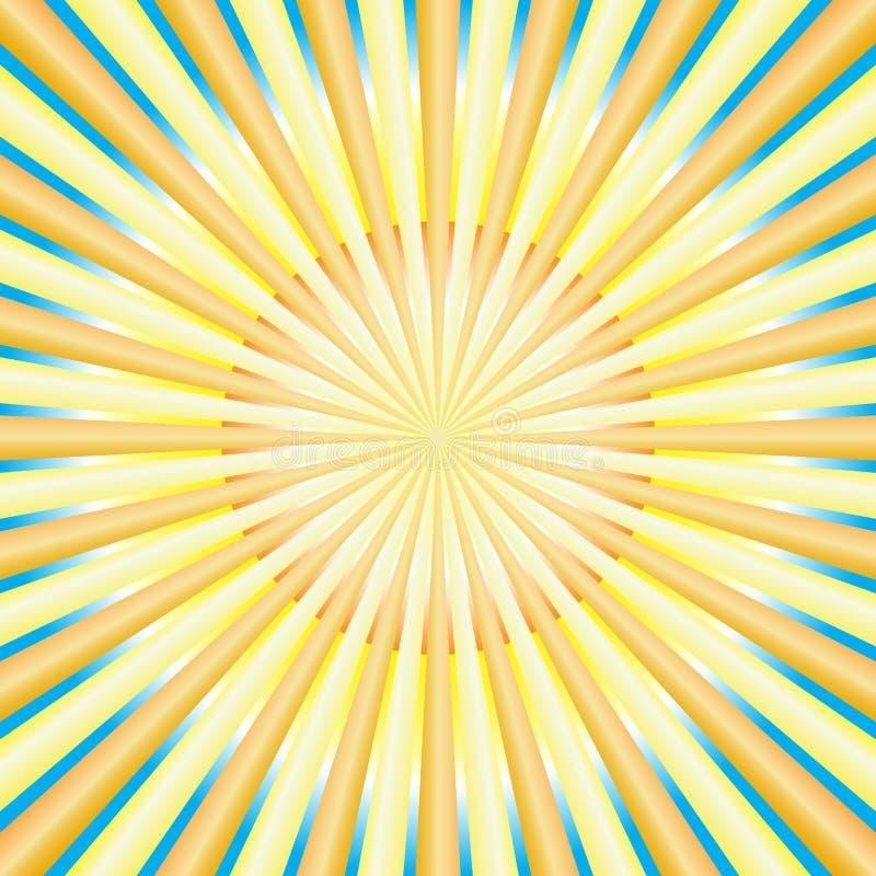 抽象光芒星期日 向量例证