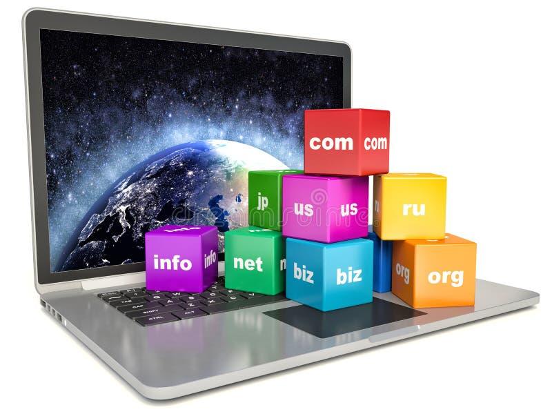 抽象全球性互联网通信个人计算机技术 库存例证