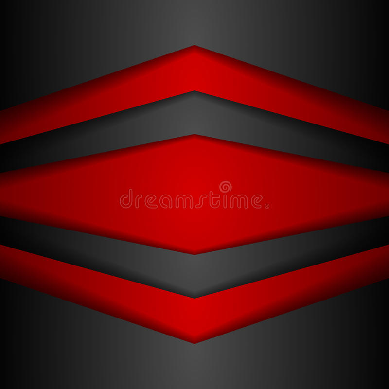 抽象公司现代红色和黑背景 库存例证