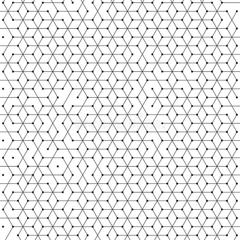 抽象六角几何细胞样式六角形背景  向量例证