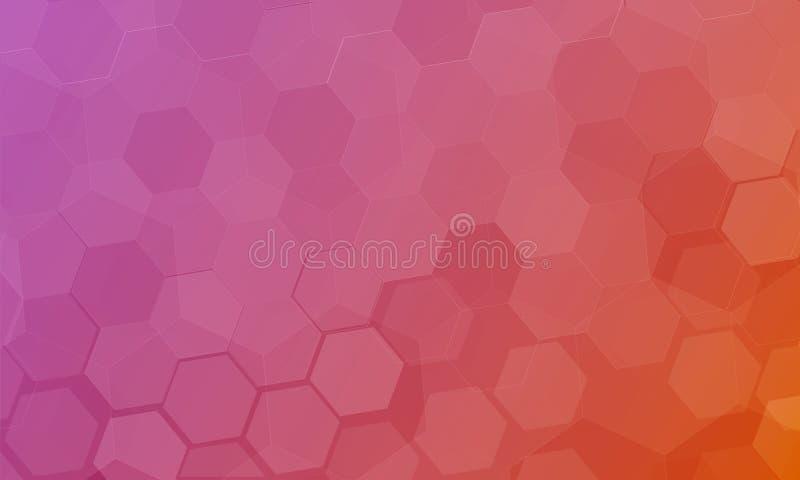 抽象六角形多角形背景 技术科学幻想小说创新设计观念 库存照片