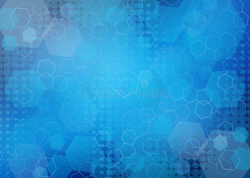 抽象六角/几何医疗背景 皇族释放例证