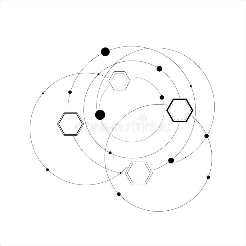抽象六角结构 库存例证