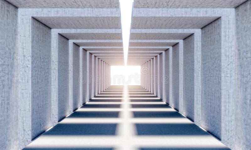 抽象具体隧道 库存例证