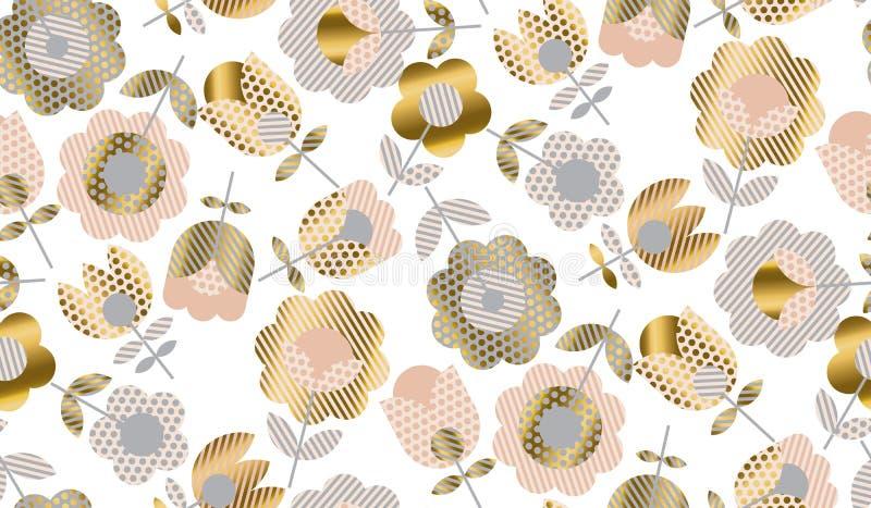 抽象典雅的几何郁金香 向量例证