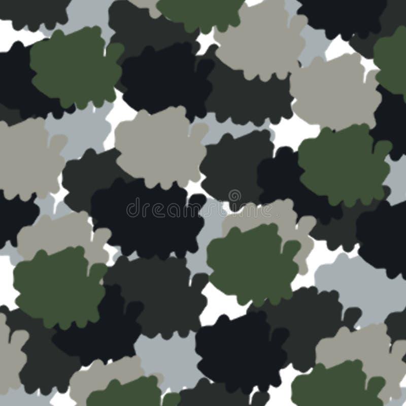 抽象军事颜色样式 向量例证