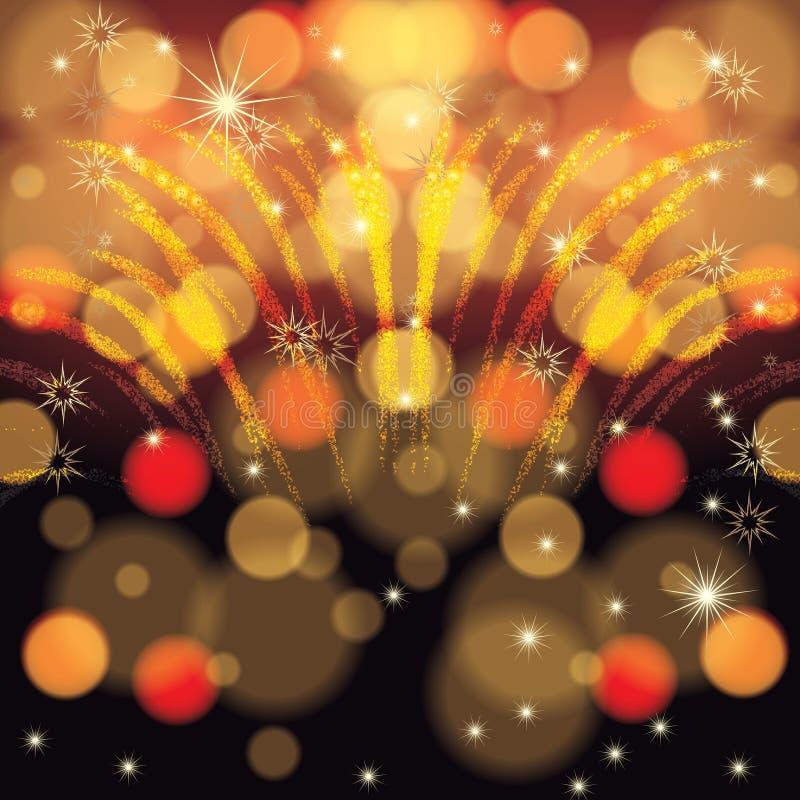 抽象冬天圣诞节新年度背景 皇族释放例证