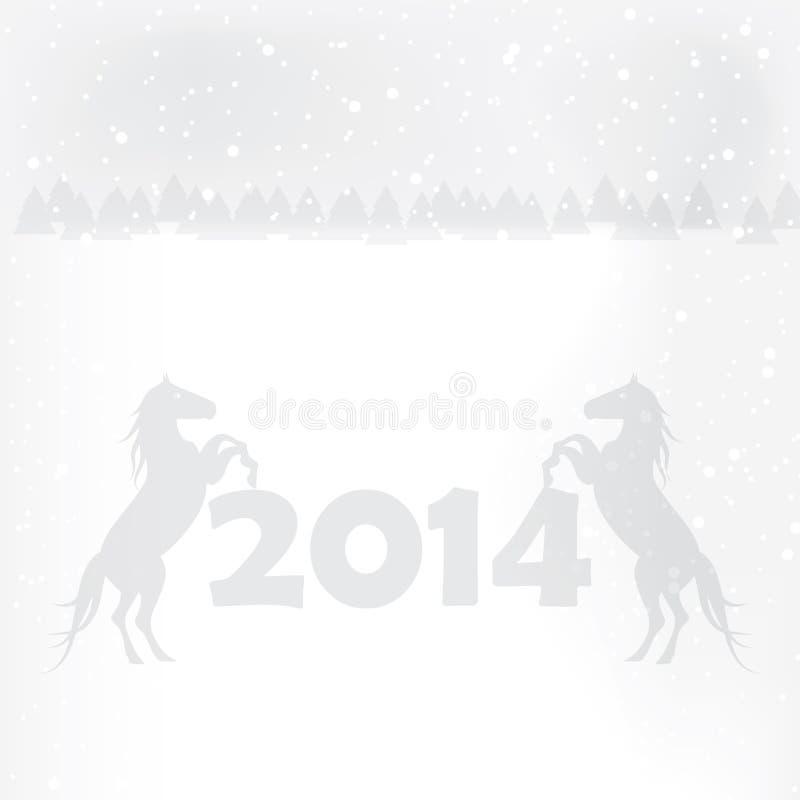 抽象冬天圣诞节新年 向量例证