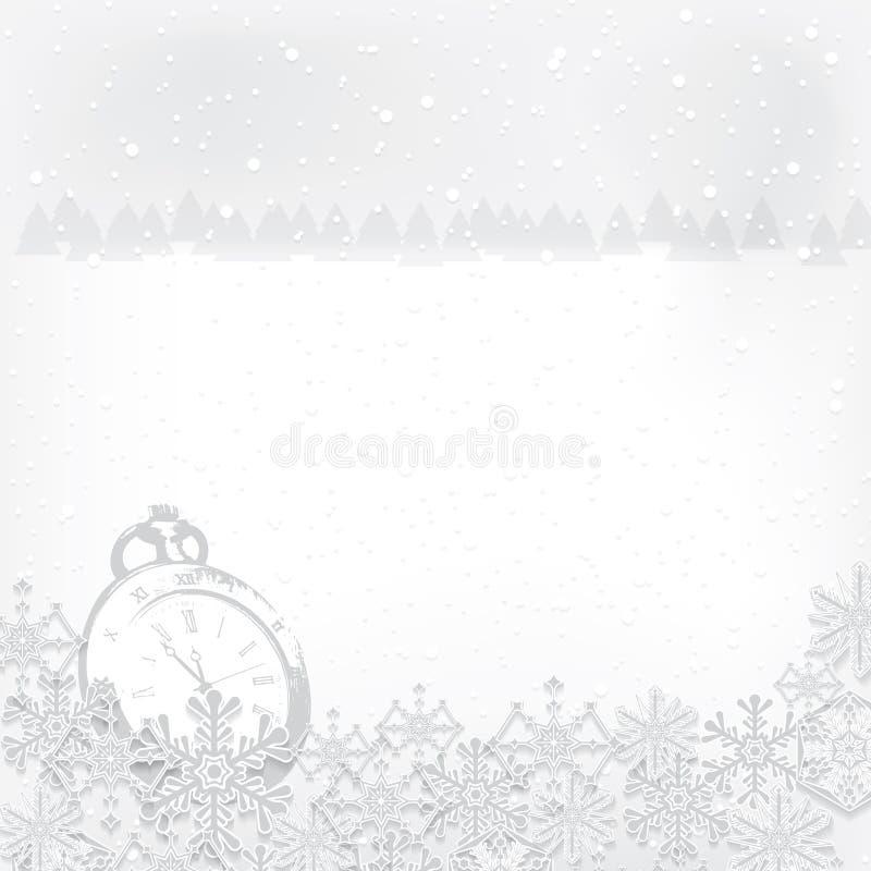 抽象冬天圣诞节新年 皇族释放例证