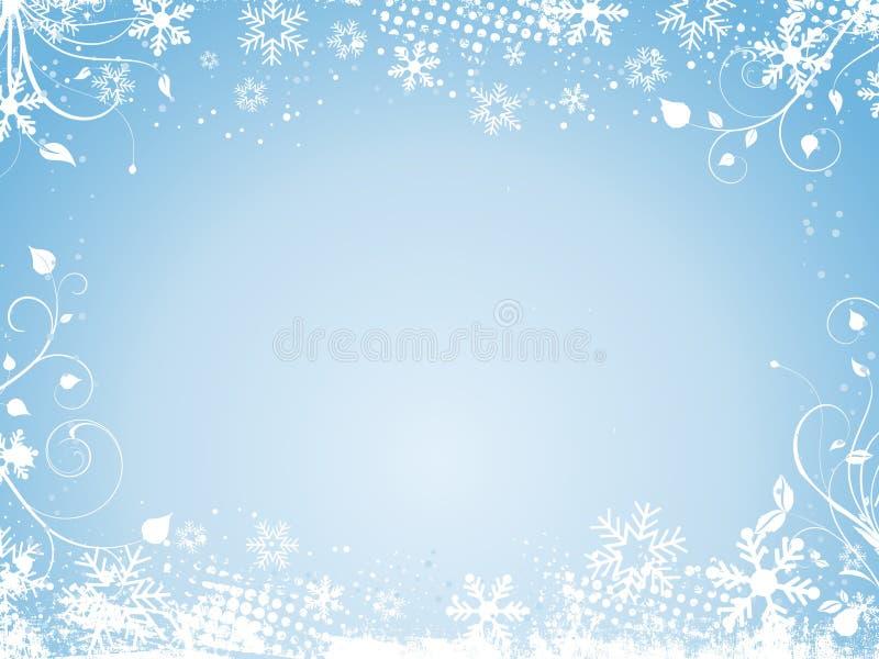抽象冬天 皇族释放例证
