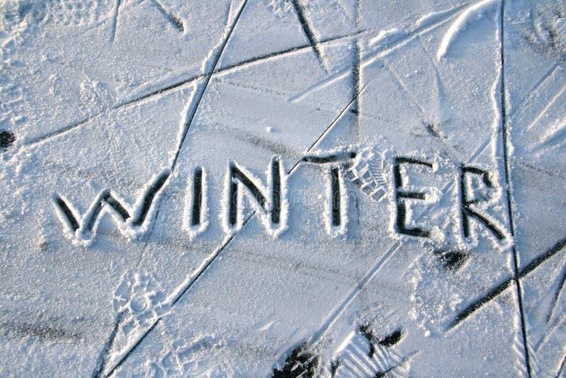 抽象冬天 库存照片
