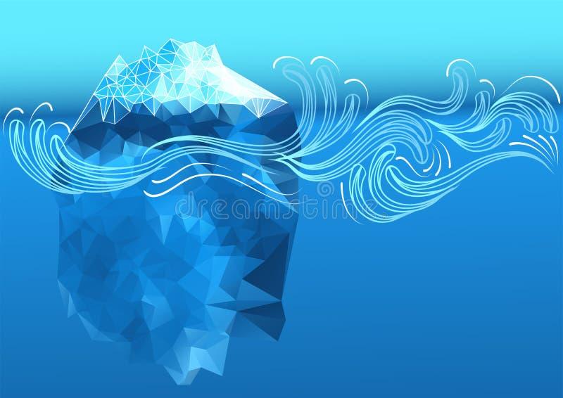 抽象冰山 向量例证