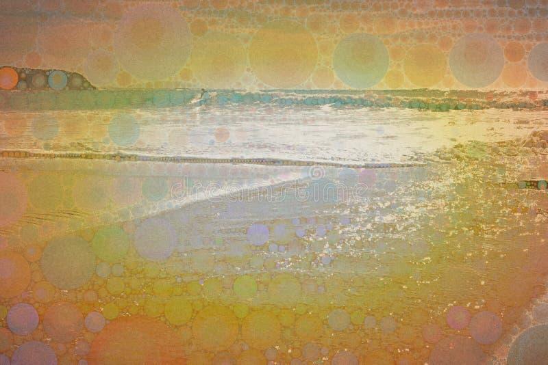 抽象冲浪的镶嵌构造 皇族释放例证