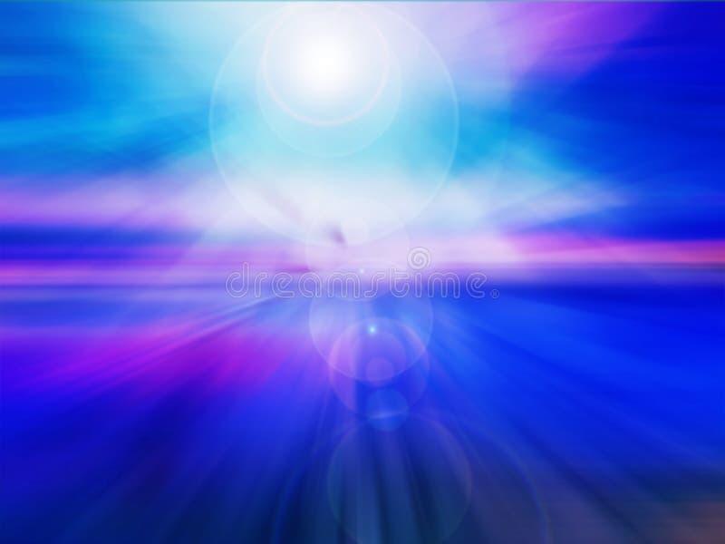 抽象冷的紫色蓝色背景 向量例证