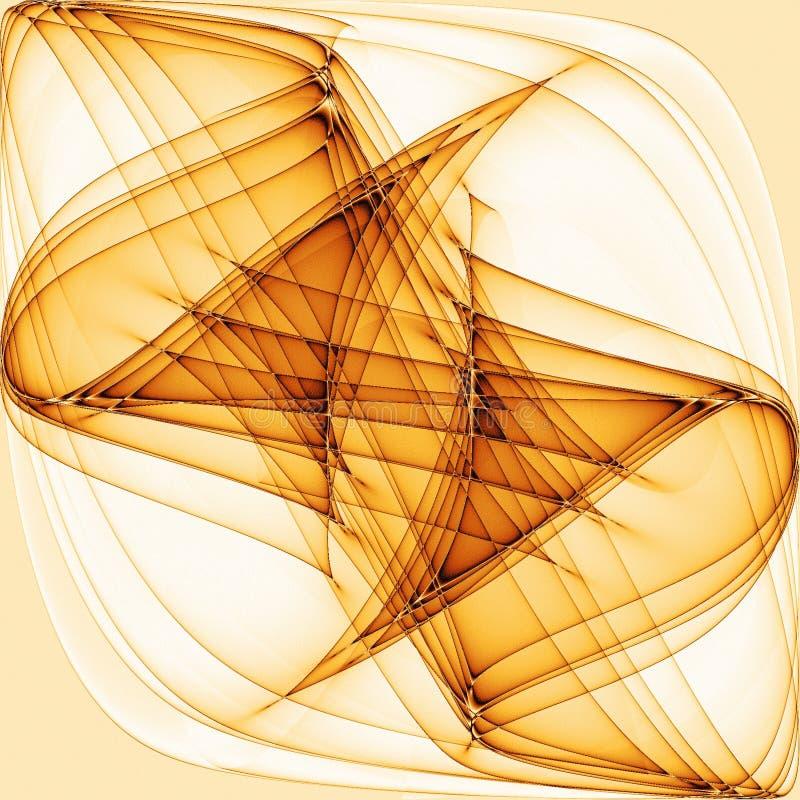 抽象冷静金子排行波浪 皇族释放例证
