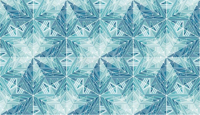 抽象冻星,雪花导航无缝的样式 皇族释放例证