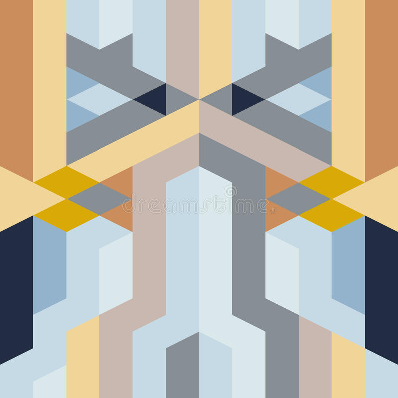 抽象减速火箭的艺术装饰几何样式 库存例证