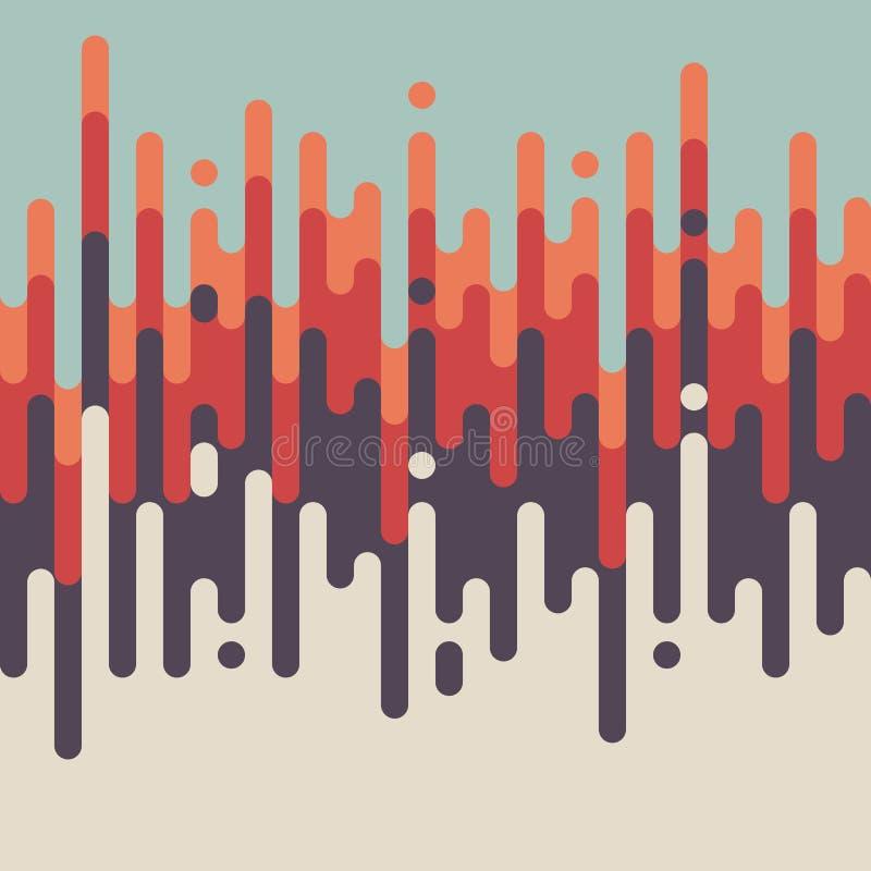 抽象减速火箭的葡萄酒线样式背景 向量例证