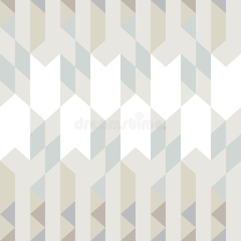 抽象几何三角无缝的样式 向量例证