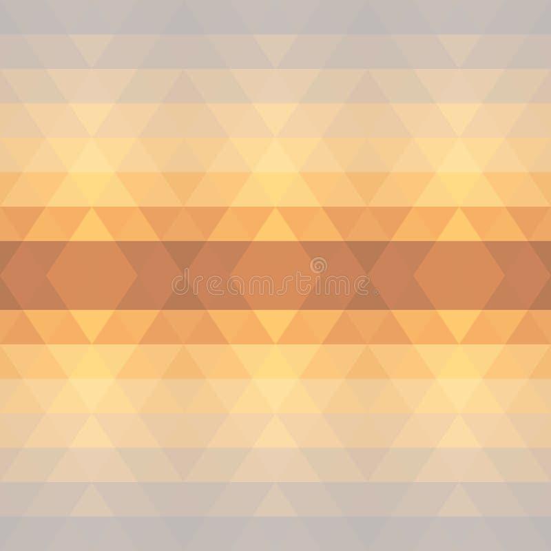 抽象几何三角无缝的样式 库存例证