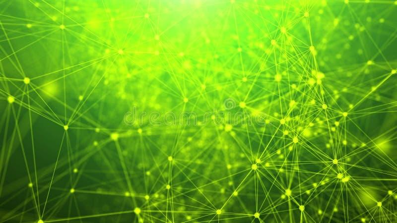 抽象几何三角网络 库存例证