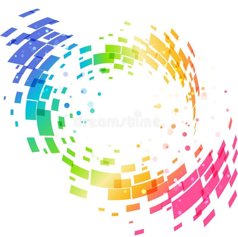 抽象几何五颜六色的圆背景 库存例证