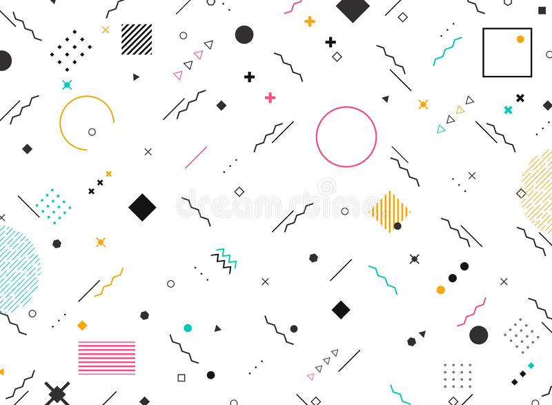 抽象几何五颜六色的现代样式背景形状质朴的窗框  您能为新的元素现代设计使用设计 库存例证