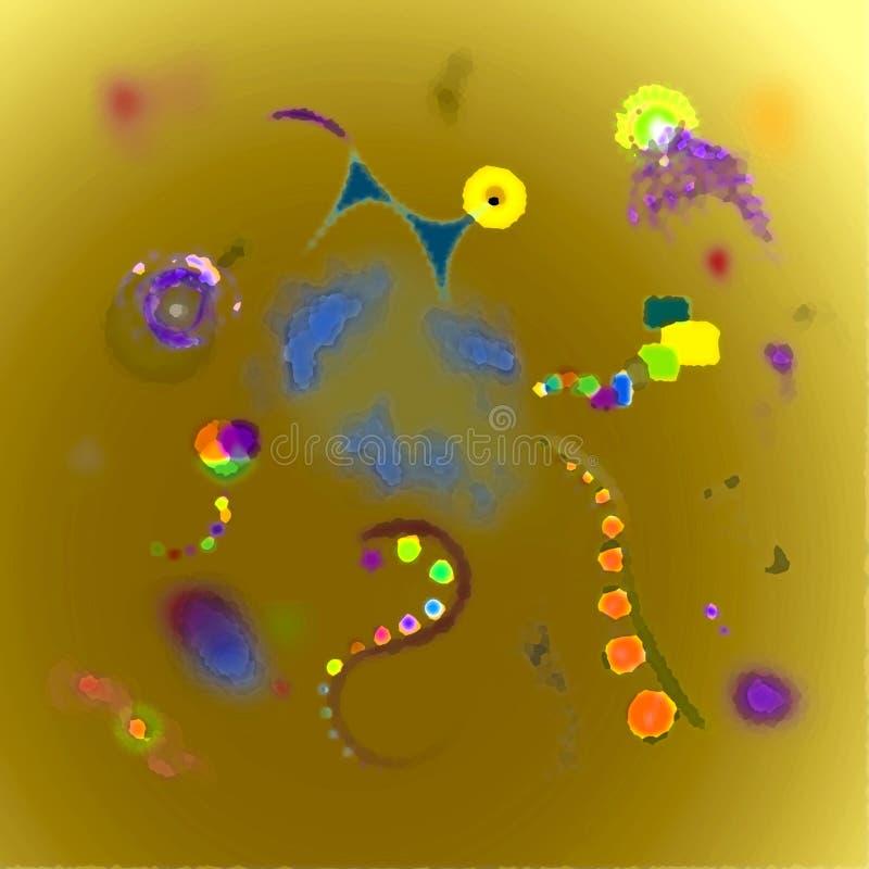 抽象几何五颜六色的背景 在样式suprematism艺术 向量例证