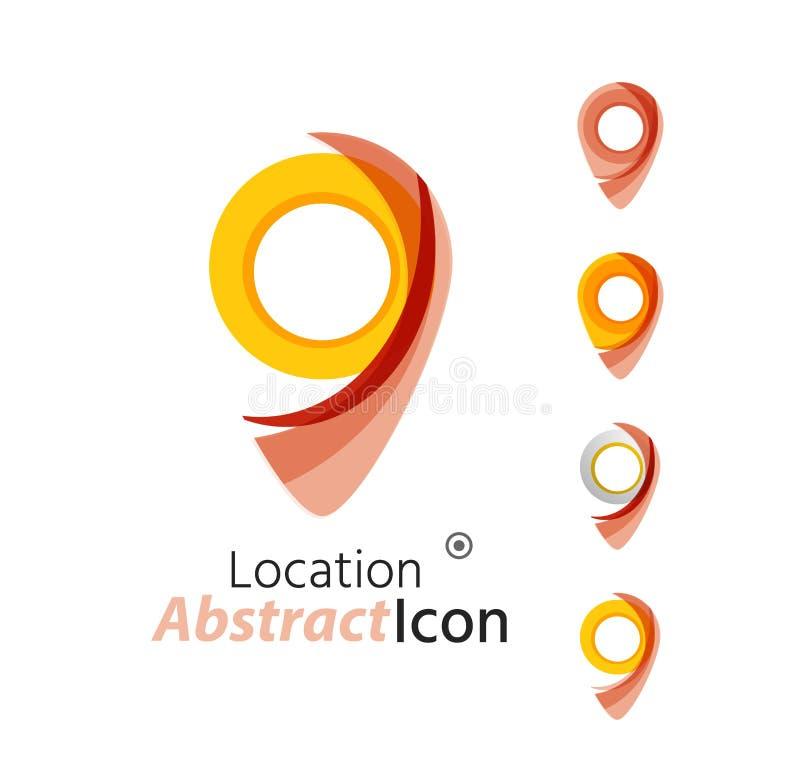抽象几何企业公司象征-地图 皇族释放例证